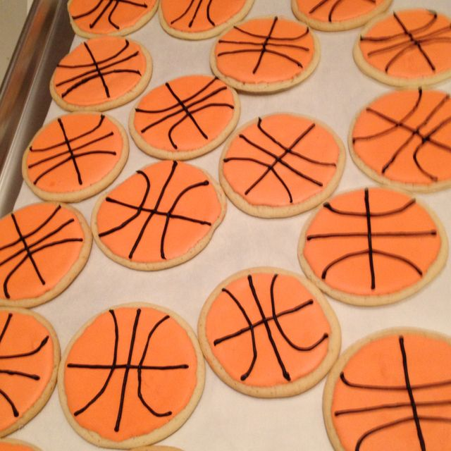 how to make basketball colored icing