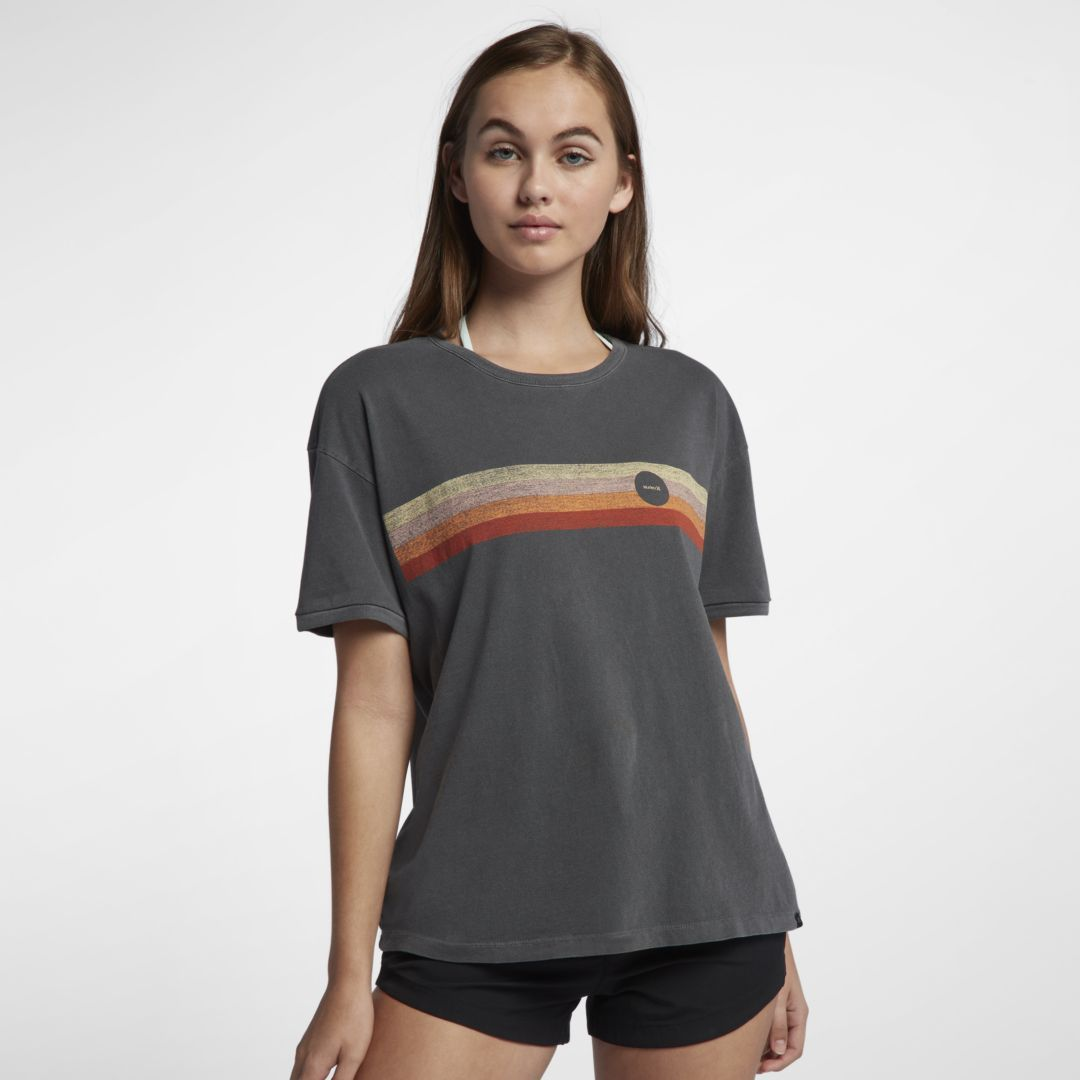 976694a29e04a Hurley Retro Wash Ringer Women s T-Shirt Size XL (Anthracite ...