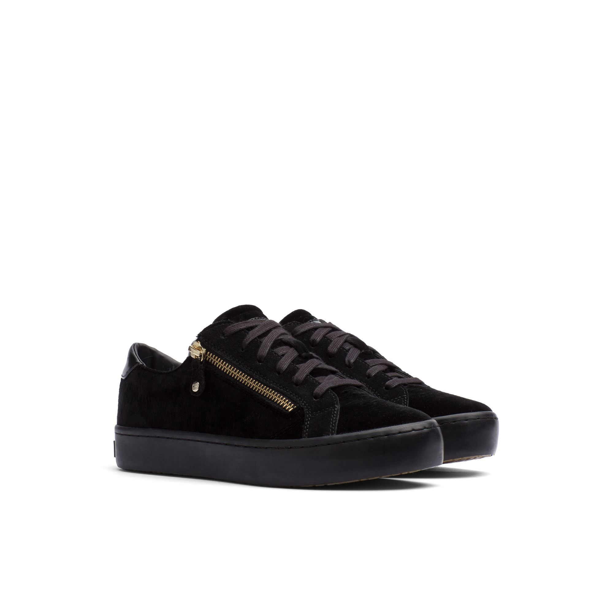 Hilfiger Collection, Fall As seen on the runway, we bring you these  exquisitely crafted velvet sneakers with a thick rubber sole. For a glam  touch, ...