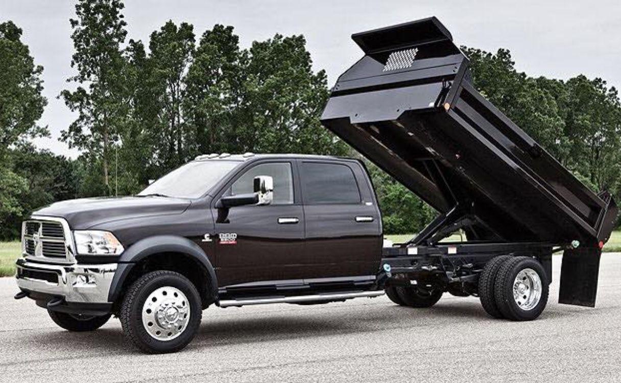 This Dump Bed Cummins Has It Going On Dodge Cummins 4thgen Dumpbed Black Dodge Dodge Ram Work Truck