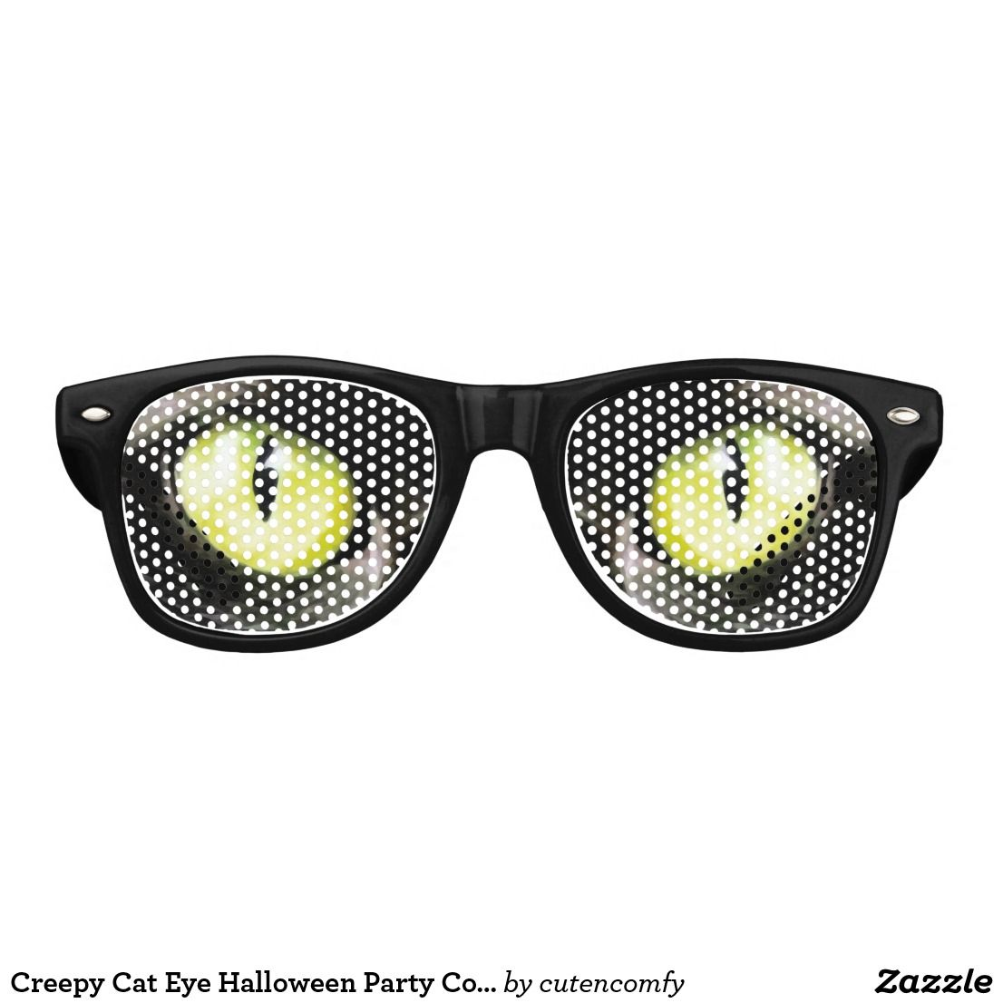 8ff9a63eda4 Creepy Cat Eye Halloween Party Costume Glasses