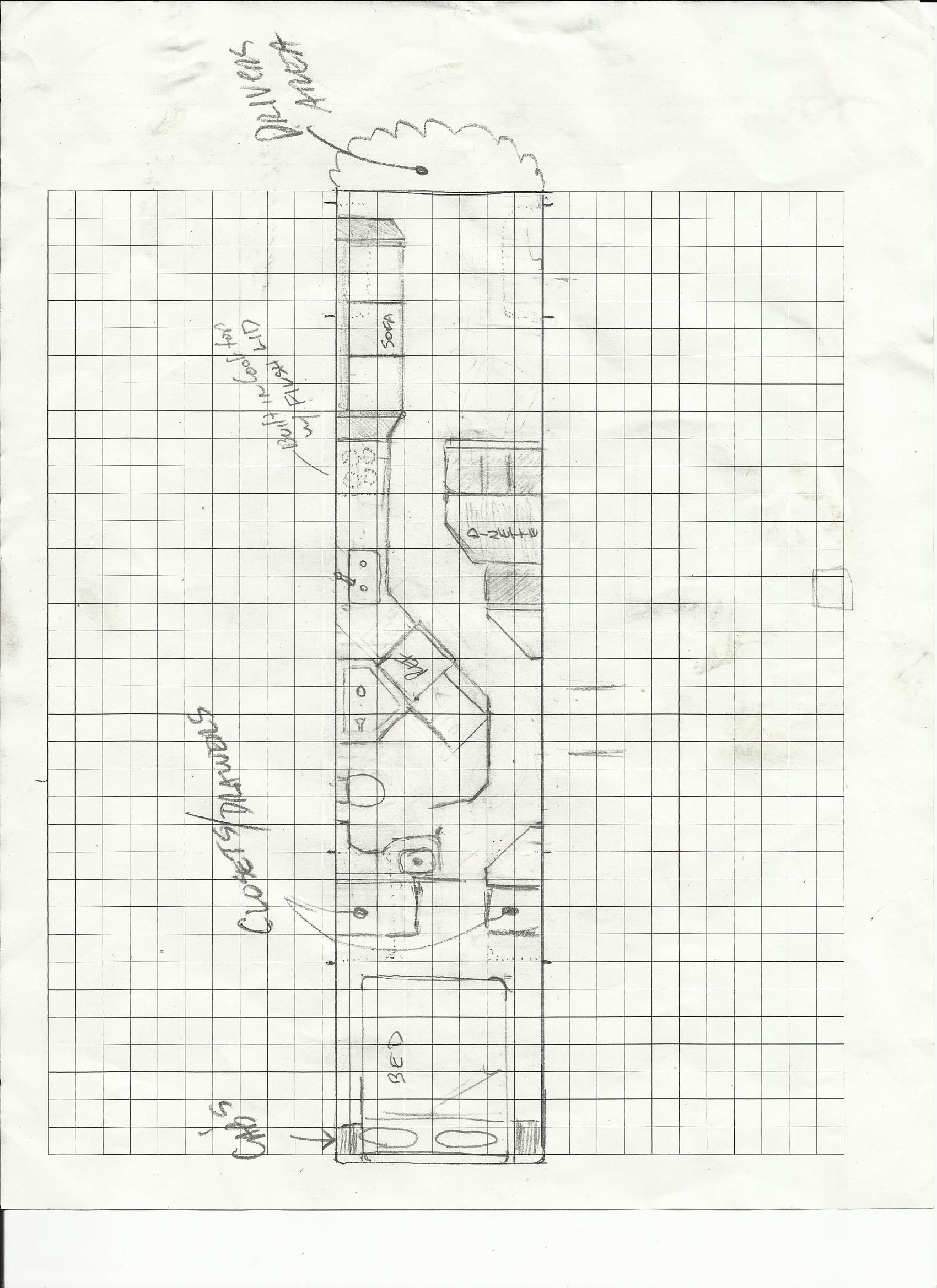 The Floor Plan I Would Use For A Bus To Rv Conversion