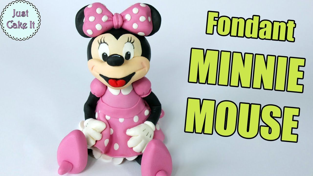Minnie Maus Küche How To Make Fondant Minnie Mouse Youtube Video Decorar Tortas