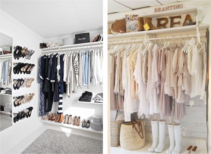 Im genes de vestidores peque os y low cost bed bath for Ideas para closets en espacios pequenos