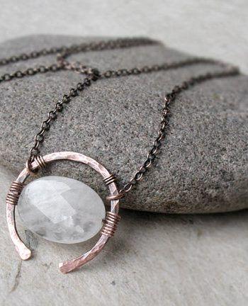 Photo of For Sale: Rose Quartz Necklace Universal Love Stone Copper Or…
