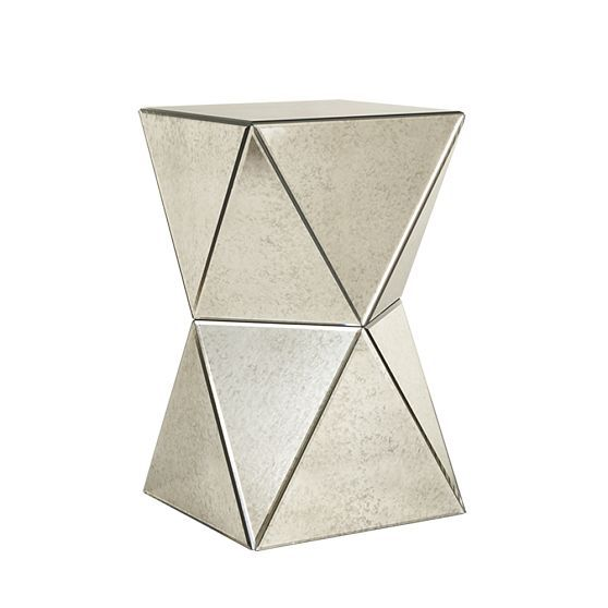 West Elmu0027s Faceted Mirror Side Table For $199.00