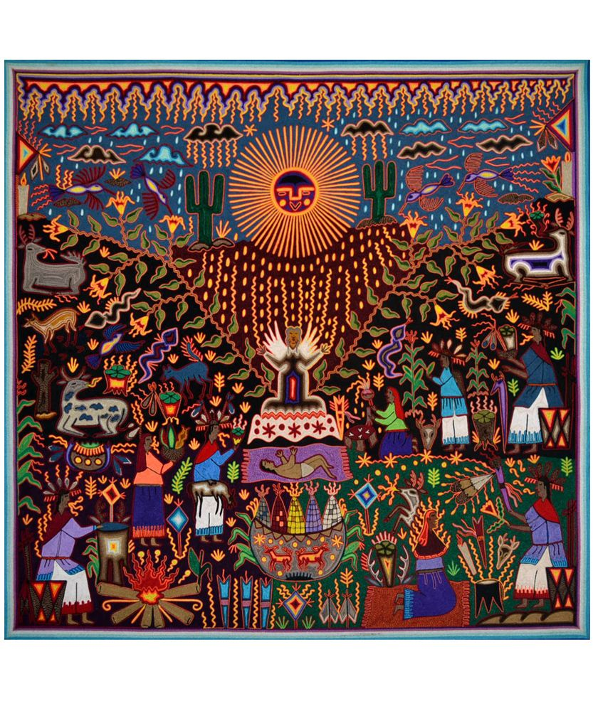 Arte Huichol Mexico Tabla De Estambre Arte Huichol Miscellaneous Pinterest Art