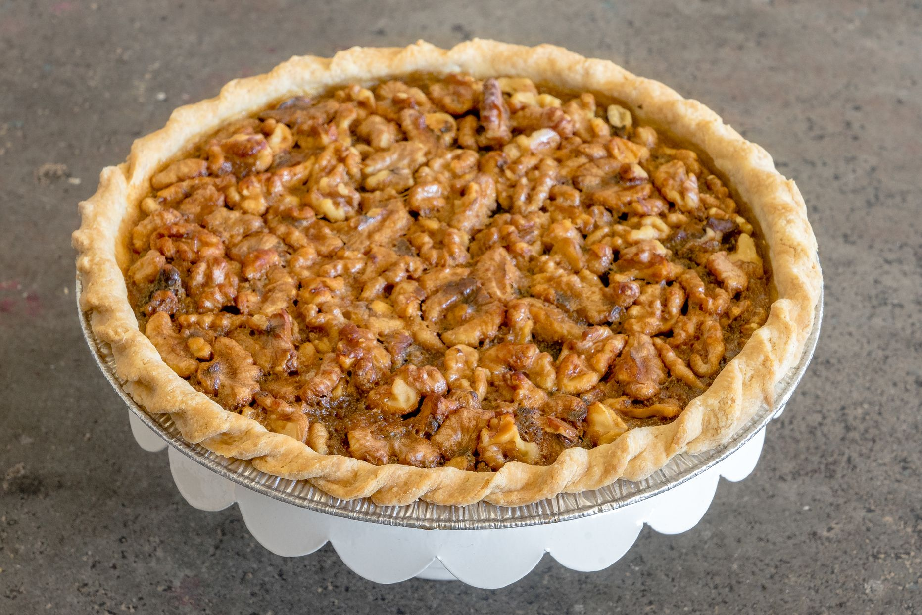 Instead of a classic pecan, this pie features California