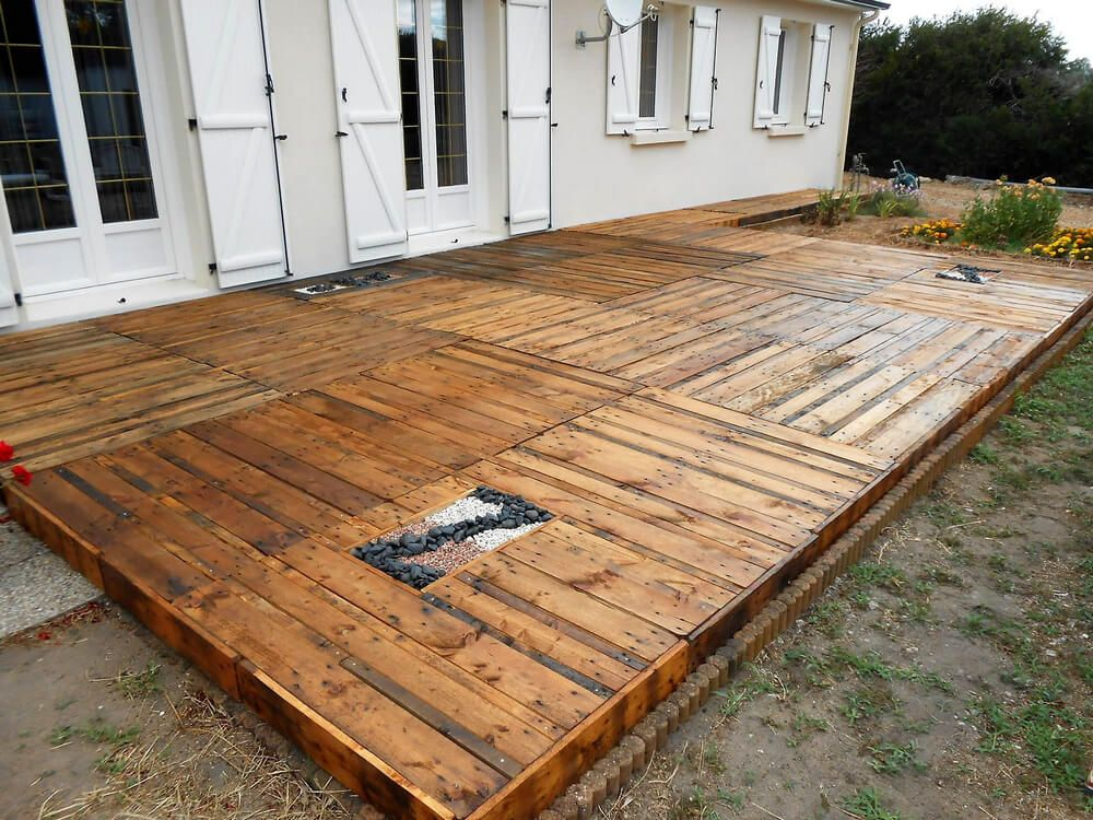 Diy Step By Step Wood Pallets Garden Terrace Pallet Patio