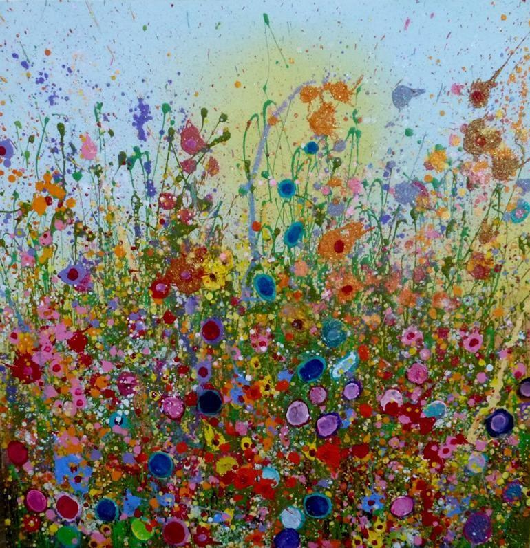 You bring sweet love to my heart yvonne coomber · flower artart flowersflower paintingslove heartheart artwild