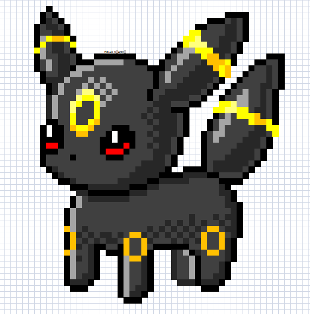 Free marvel cross stitch patterns later lilo stitch for Umbreon pixel art template