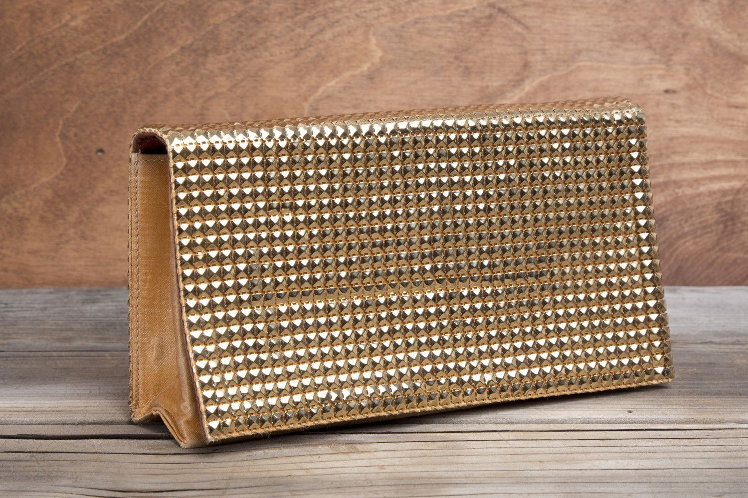 Gold Mesh and Satin Clutch