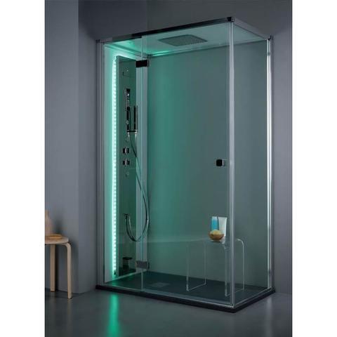Cabina doccia rettangolare 70x100 porta scorrevole e lato