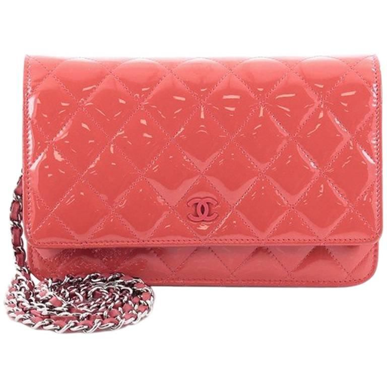 bd16324c96fbc8 Chanel Wallet on Chain Quilted Patent in 2019 | Bag Lady | Chanel ...