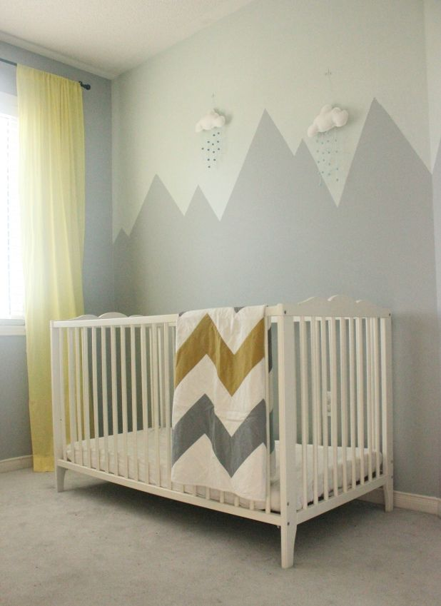 Mountain Mural Nursery Wall Mountain mural, Nursery wall