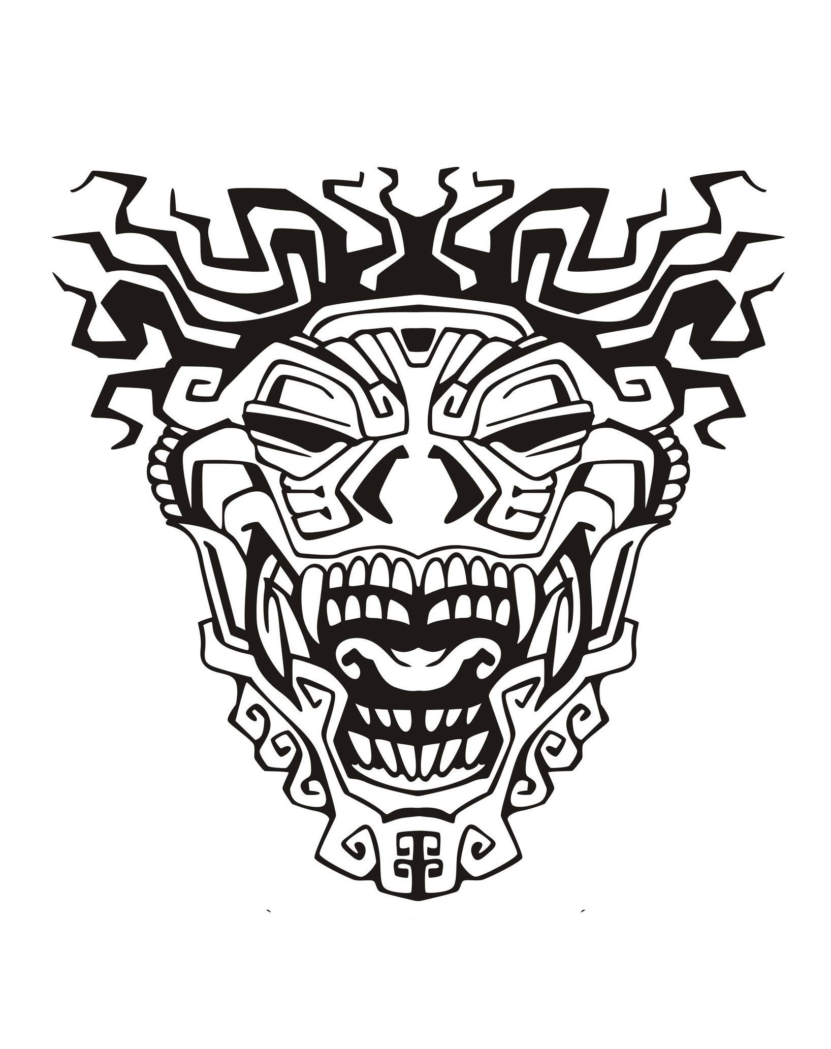 Mask inspired by Aztecs Mayans