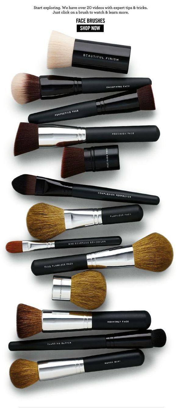 Bareminerals Makeup Application Brushes Bare Minerals Makeup Mineral Makeup Brush Minerals Makeup