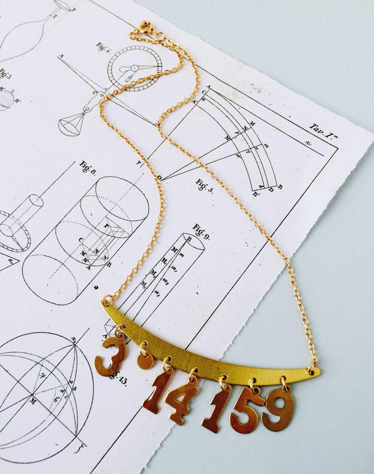 Piece of the Pi Necklace — Eclectic Eccentricity Vintage Jewellery