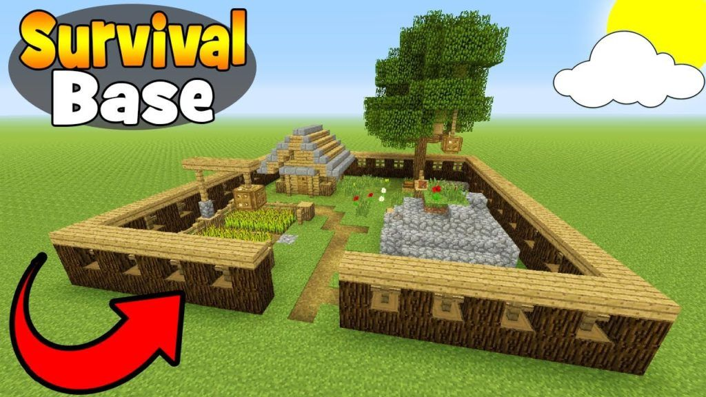Minecraft Tutorial How To Make A Small Survival Base Survival