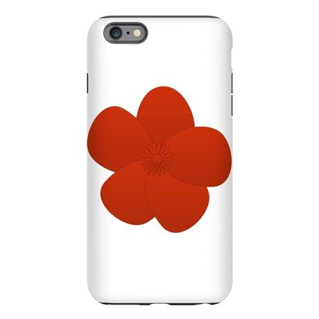 Anemone Red Lover Flower iPhone Plus 6 Tough Case.
