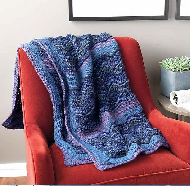 Ravelry: Van Gogh Waves pattern by Kim Guzman (Tunisian!) | crochet ...