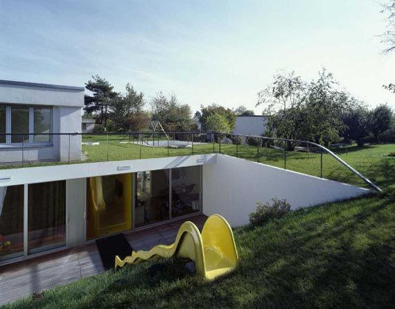 Underground home modern underground house decorating for Modern underground home designs