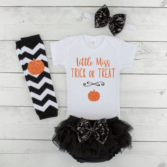Baby Girl Halloween Outfit 1st Halloween Costume Little Miss Trick or Treat Halloween Baby Girl Outfit & Baby Girl Halloween Outfit 1st Halloween Costume Little Miss Trick ...