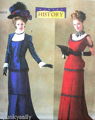 Butterick 4212 Historical Victorian Titanic Dress 18 22 Costume