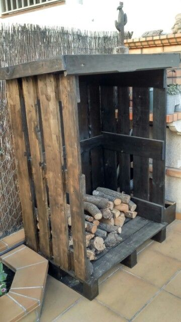 Le ero hecho con pallets firewood storage le eros - Leneros de madera ...