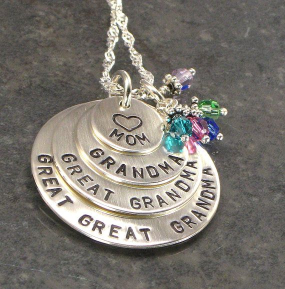 great great grandma necklace for mother s day grandma necklace