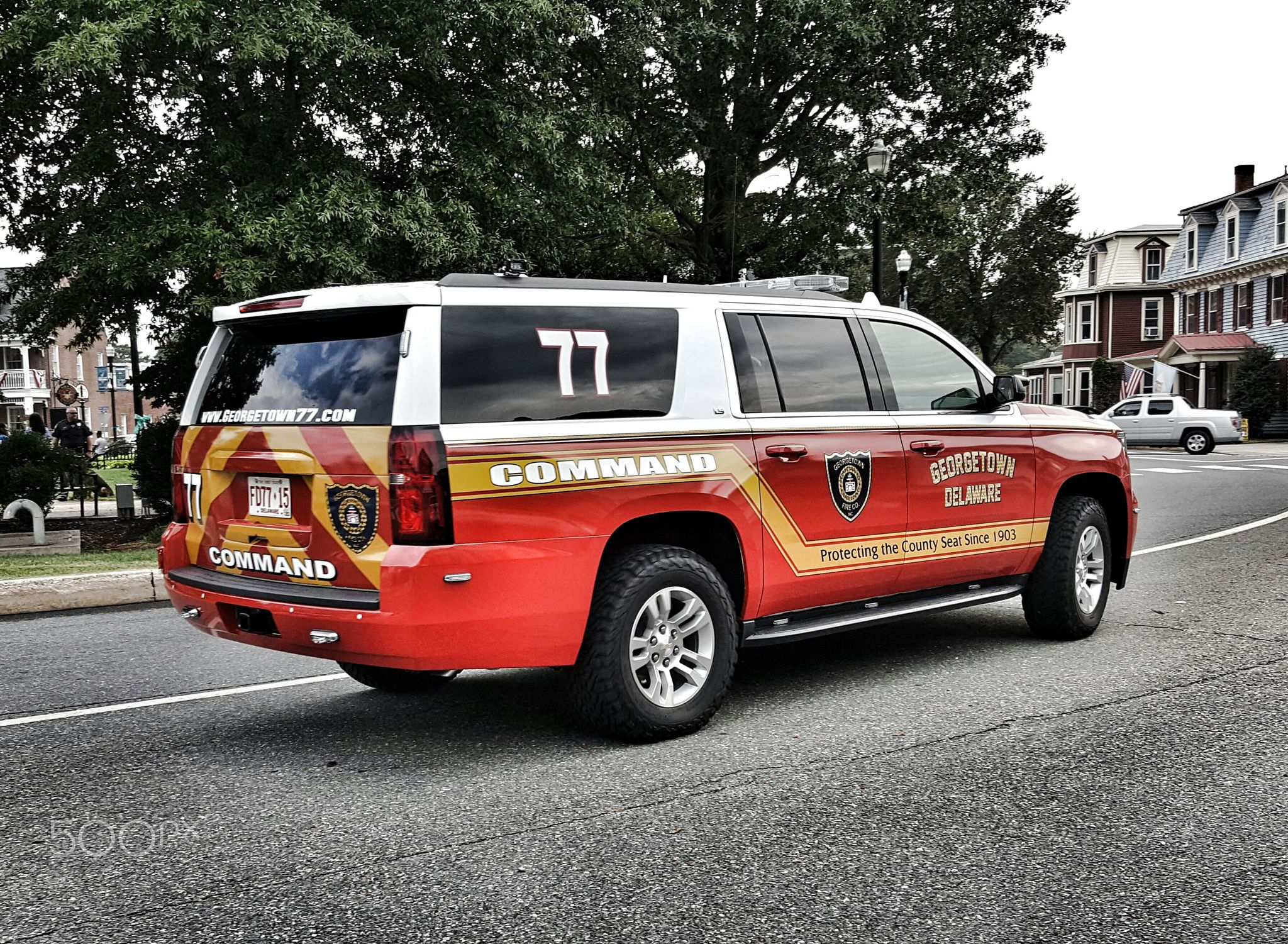 Red car with flames of fire hdr creme - Command Unit From Georgetown Fire Company 2016 Chevy Suburban From The Georgetown Fire Company