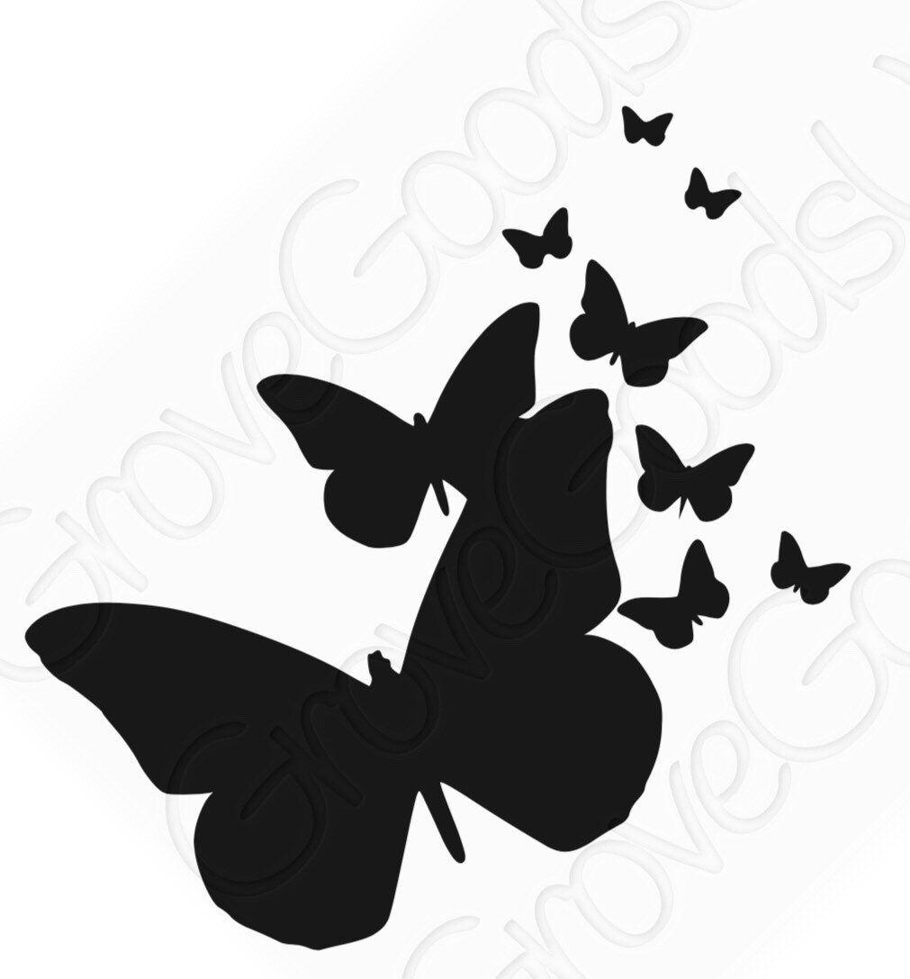 Butterfly Decals vinyl BONUS decal sticker for home window door decor car laptop