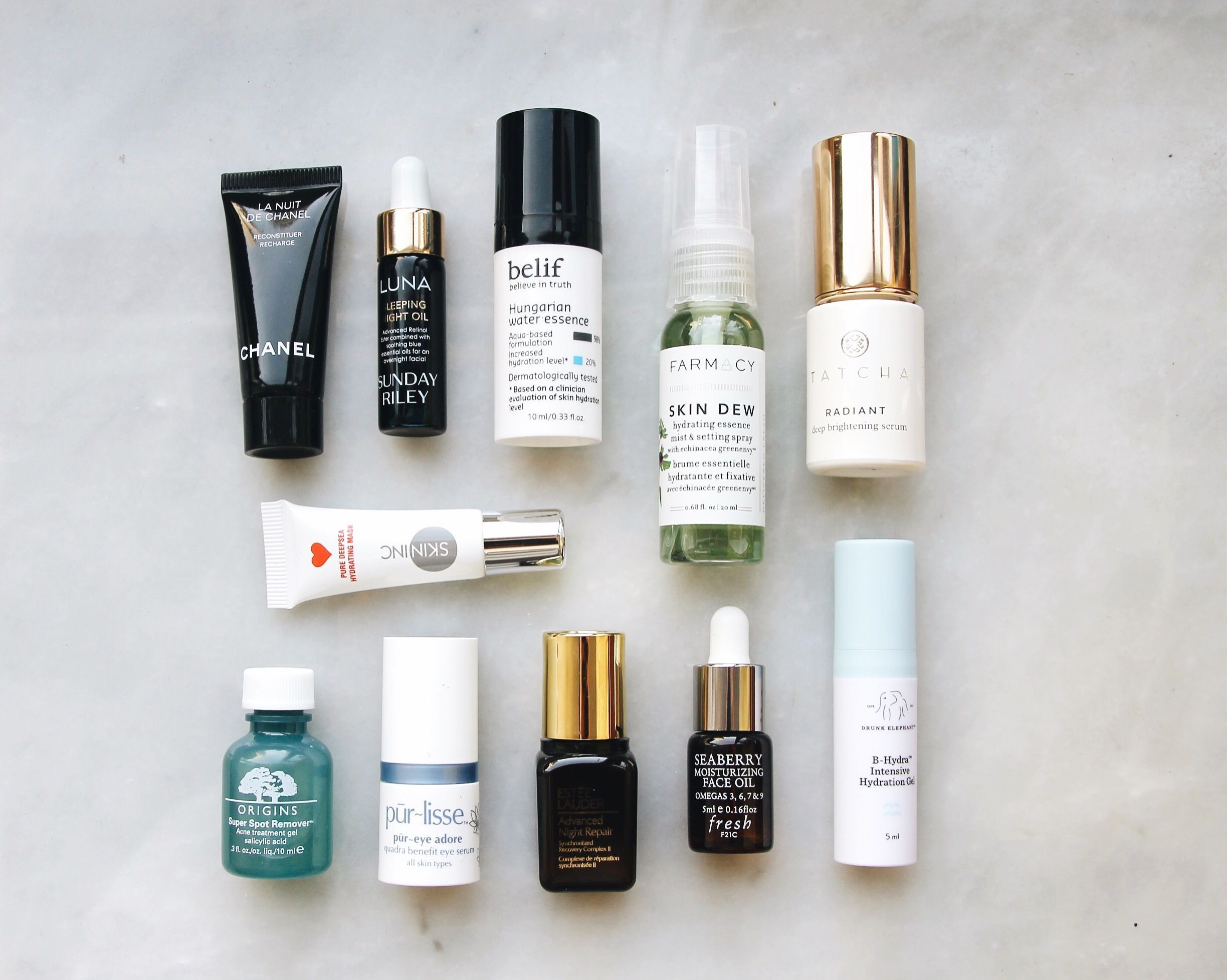 Favorite travelsized evening skincare products travel size beauty