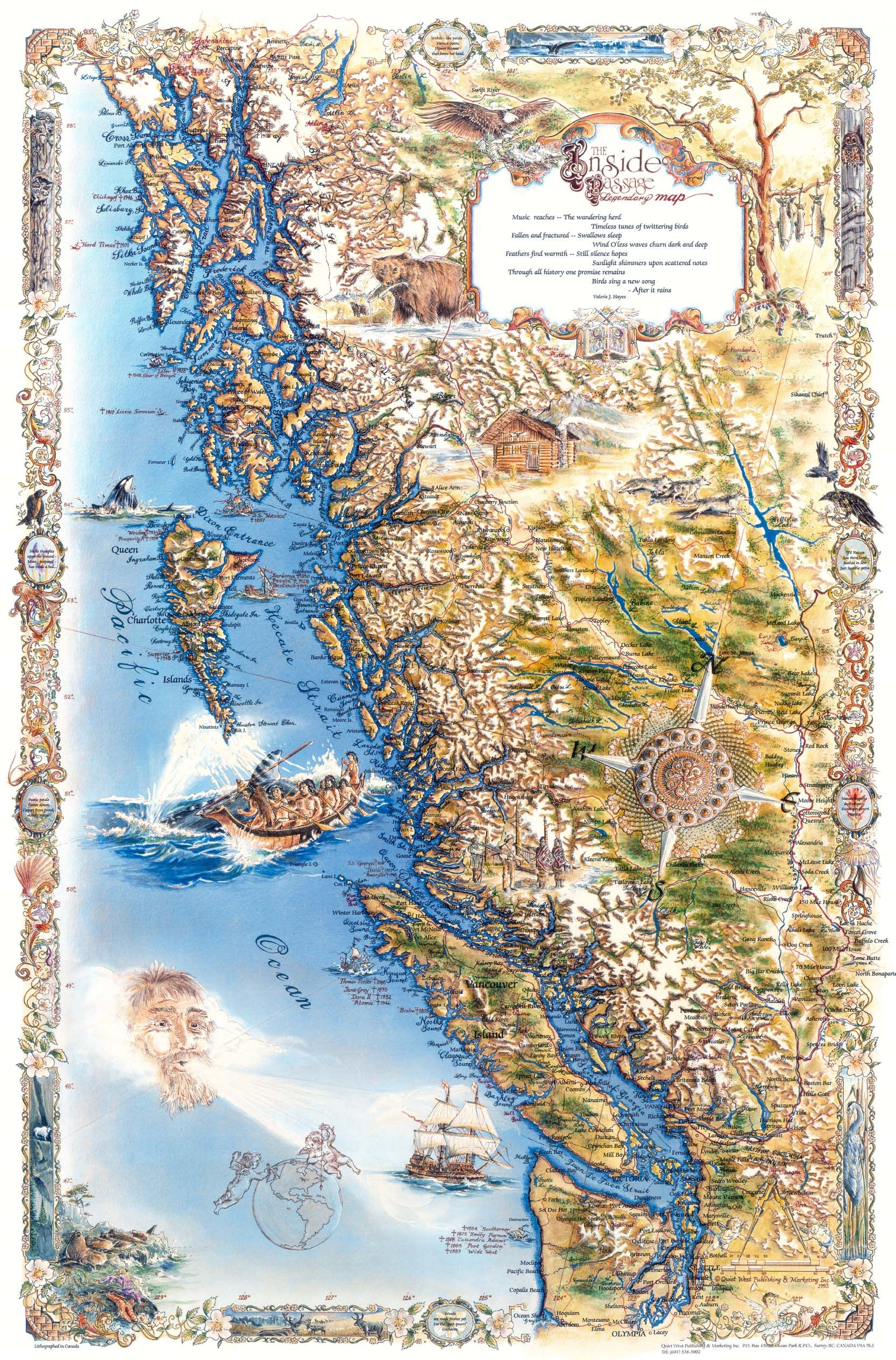 Pacific Northwest Inside Passage Map Mappery