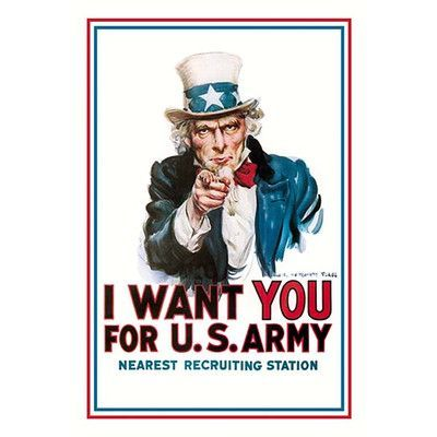 Buyenlarge I Want You For The U S Army By James M Flagg Vintage Advertisement Army Poster Propaganda Posters Recruitment Poster
