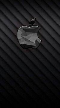 iPhone 7 Wallpaper - Black 3D Apple