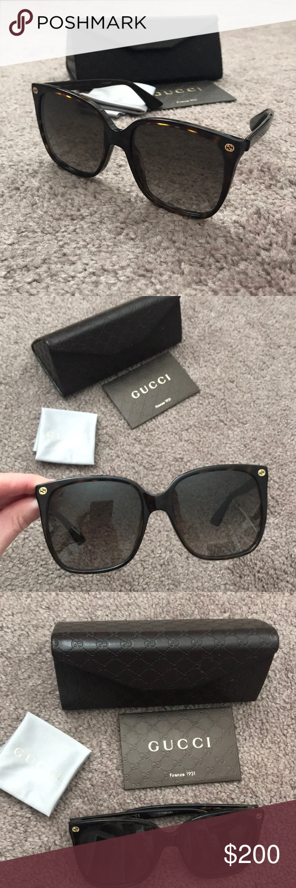 6486307bd Gucci women's sunglasses Dark tortoise Gucci women's sunglasses. Brand new  never worn. Paid $275.00 at Bloomingdale's. Comes with case and cleaning  cloth.