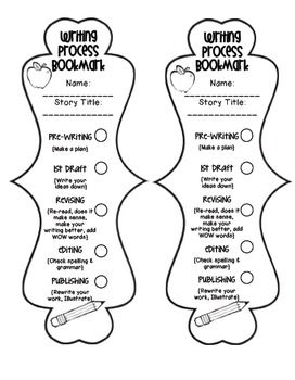 Writing Process Bookmarks (Checklists & Reference
