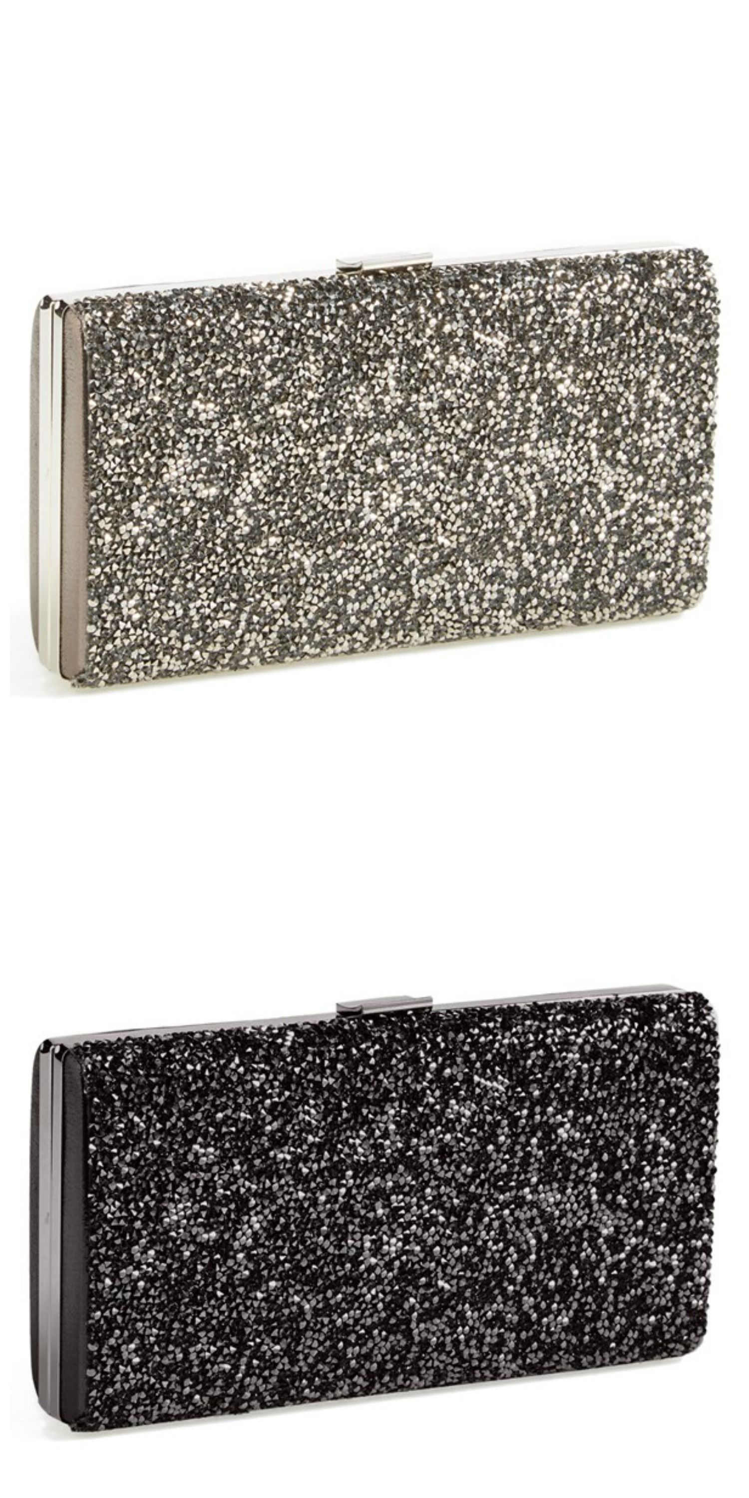 This crystal glitter clutch is on the prom wish list