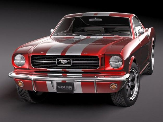 Ford Mustang Fastback 1960s Html 3d Models Ford Mustang Fastback Mustang Fastback Ford Mustang