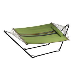Sunnydaze Wildflower Cotton Fabric Hammock With Spreader Bars Pillow And Stand Combo Hammock Pillows Hammock Swing