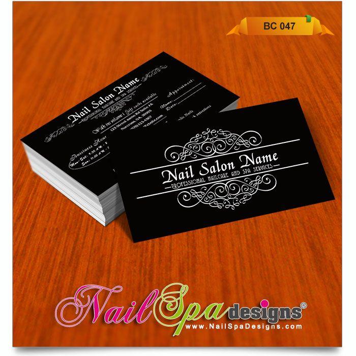 Business Card for Nail Salon. Visit www.NailSpaDesigns.com/catalog ...