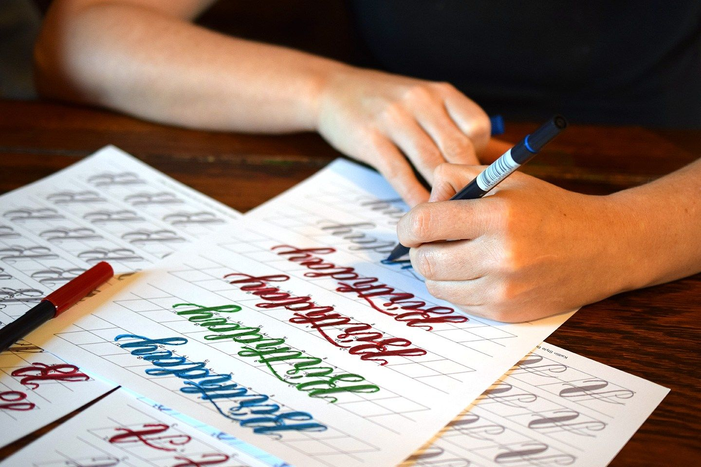 Introducing Tpk S First Brush Pen Calligraphy Worksheet
