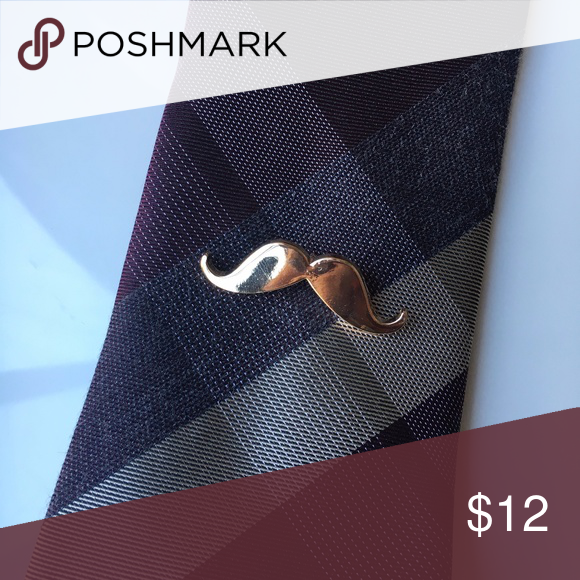Mens gold mustache tie lapel pin Add style to your wardrobe with this gold tone mustache pin, also makes a great gift! Accessories Ties