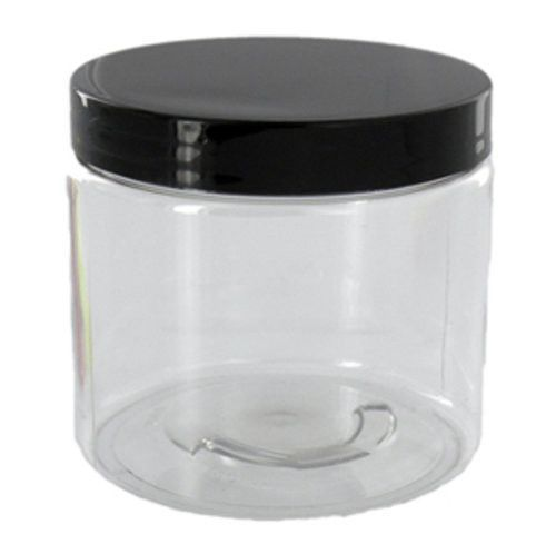 2 Oz Clear Plastic Jar With Black Caps Qty 5 Plastic Jars Container Small Plastic Containers