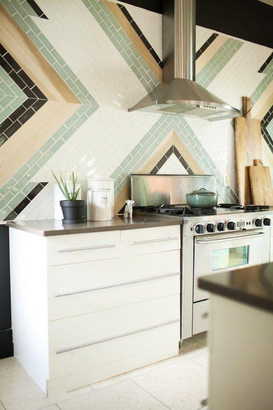 Le Carrelage Metro En Idées Déco Murs De La Cuisine Relooker - Carrelage mural cuisine metro pour idees de deco de cuisine