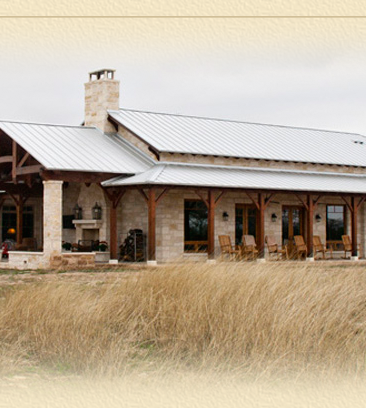 Texas timber frames hybrid designs timber trusses for Ranch style timber frame homes