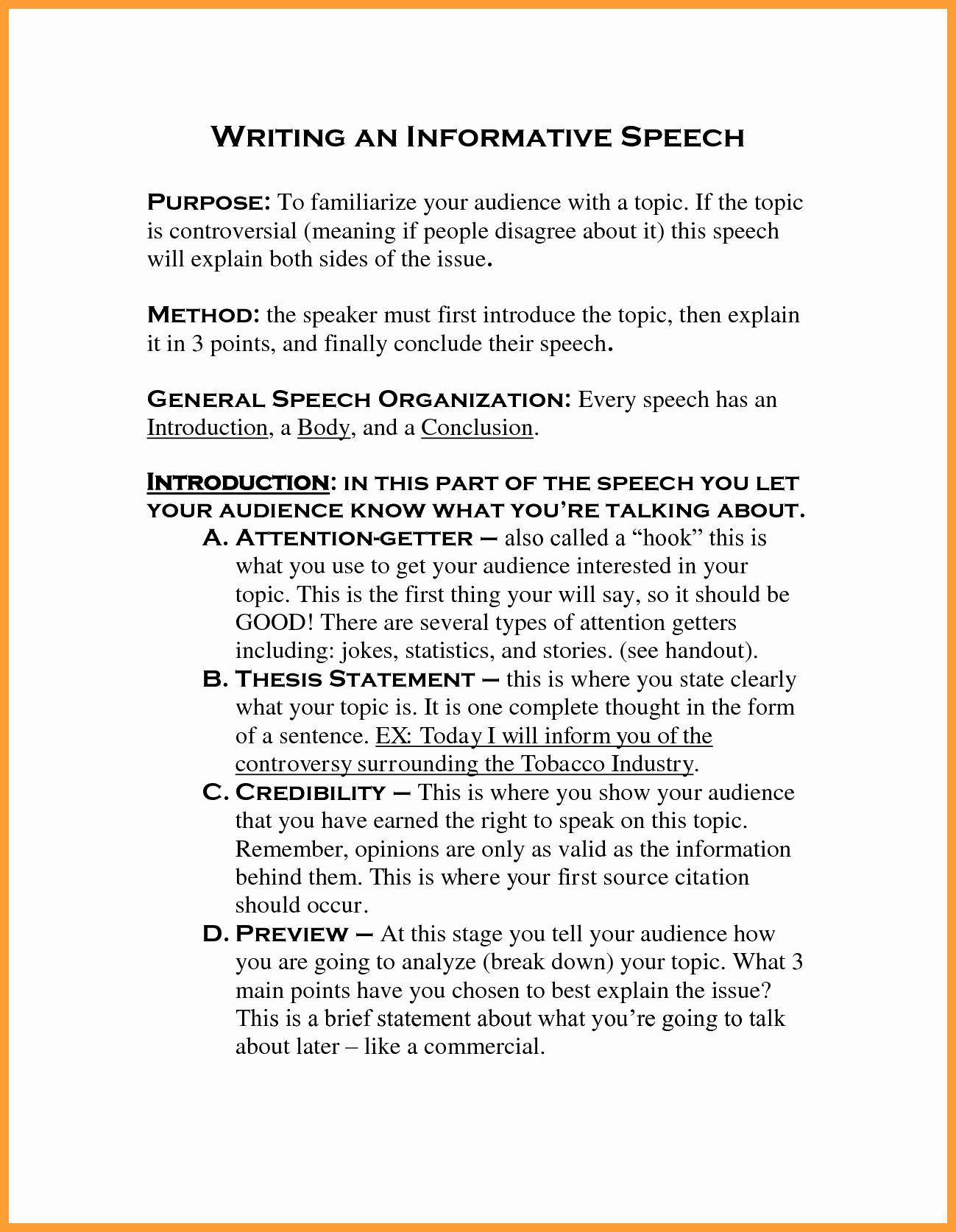 Examples Of Informative Writing Elegant 7 8 Best Informative Speeches Writing A Thesis Statement Informational Writing Writing Images