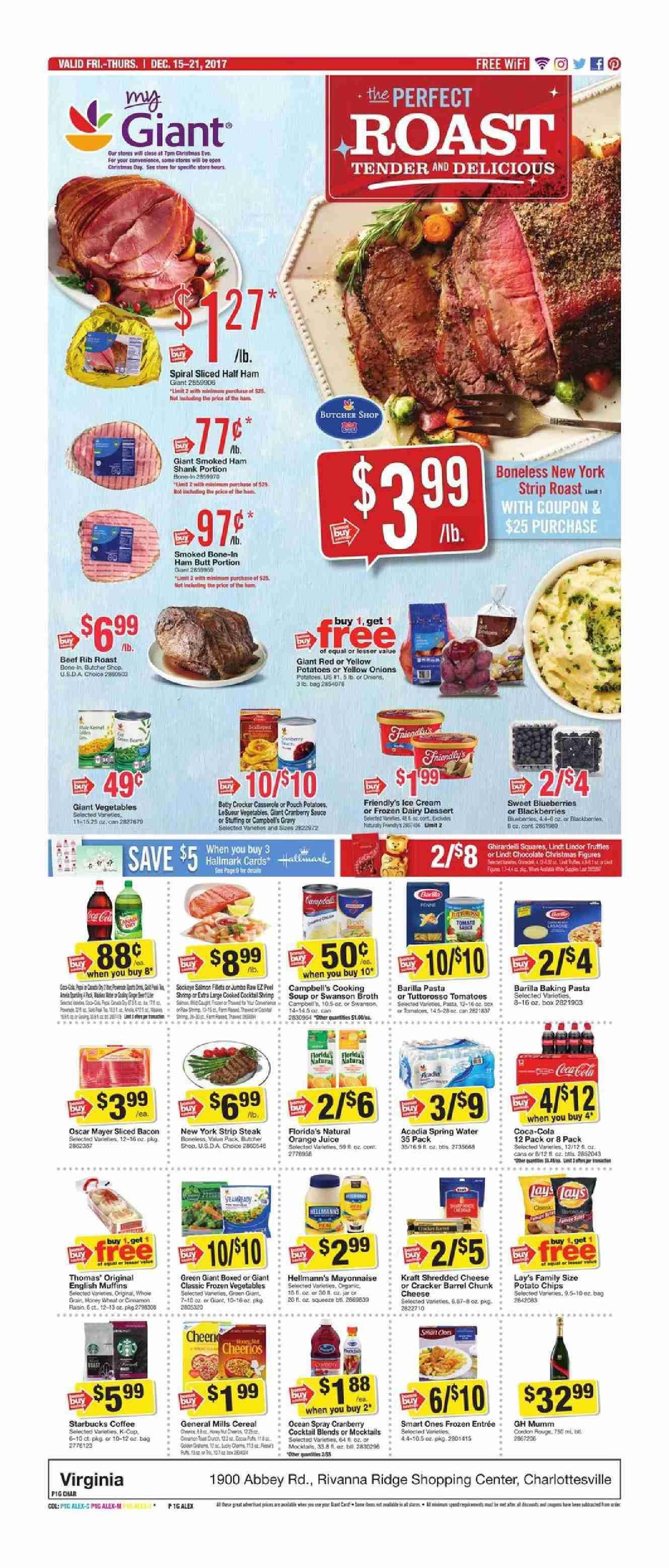 Giant food weekly ad december 15 21 2017 httpwww