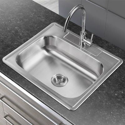 Winpro 25 L X 22 W Single Basin Drop In Kitchen Sink Drop In